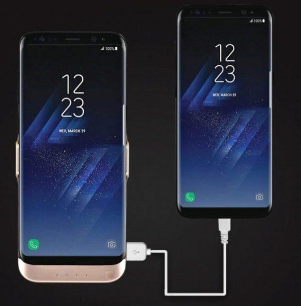 Чехол аккумулятор для Samsung S8 5500 mah Prosrum white