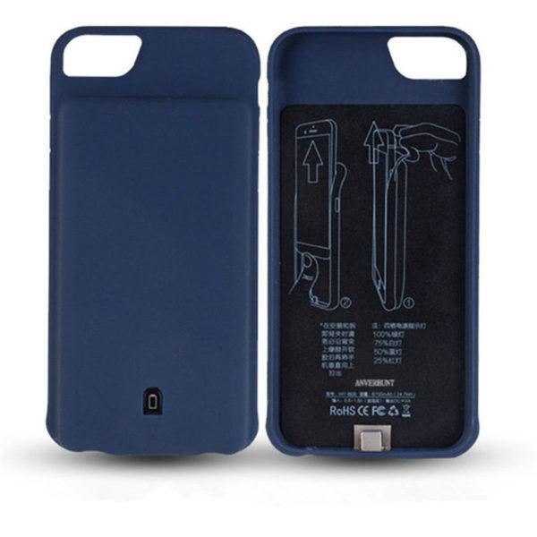 Чехол аккумулятор для iPhone 6/6S/7/8 battery Case – 4500 mah blue