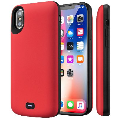 Чехол зарядка для iPhone X Battery Case 5000 mah Prostrum Red