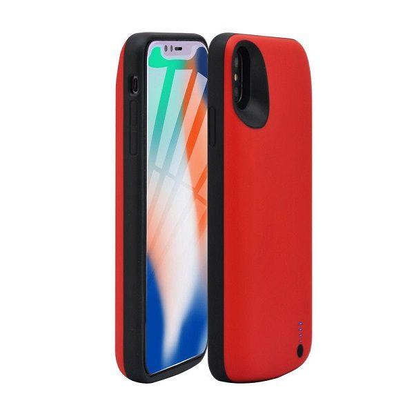 Чехол аккумулятор для iPhone XR 6000 mah ProStrum red
