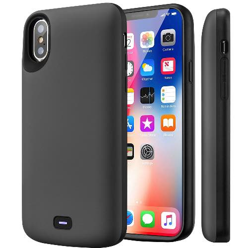 Чехол зарядка для iPhone X Battery Case 5000 mah Prostrum Grey