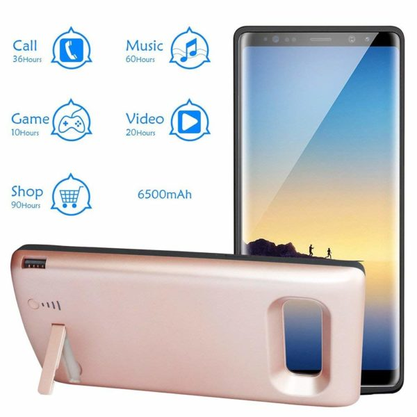 Чехол зарядка для Samsung Galaxy Note 8 6500 mah Prostrum Blue