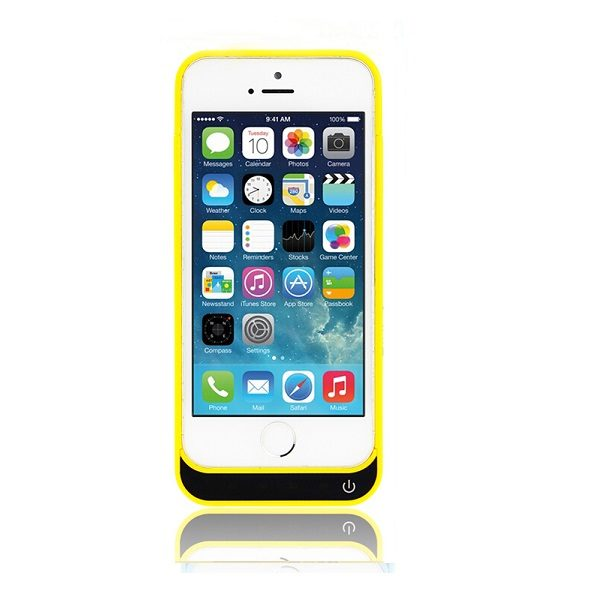 Чехол аккумулятор для iPhone 5/5S/5C SE  4200 mAh Prostrum Yellow
