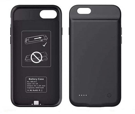 Чехол зарядка для iPhone 6+/6S+/7+/8+ 4000 mAh ProStrum black