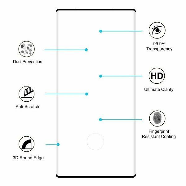 Защитное стекло для Samsung Galaxy Galaxy Note 10 Tempered Glass Full Covered black